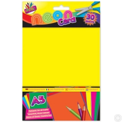 30 Sheets A5 Neon Card Assorted Colours