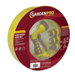 Garden Pro 30m Hose and Spray Gun Set