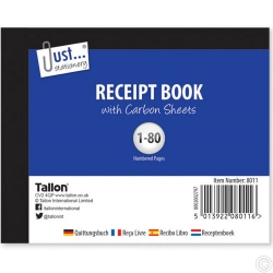 RECEIPT BOOK, HALF SIZE 80 SETS