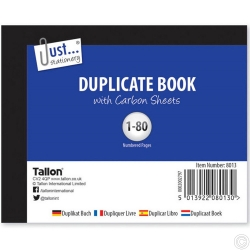 Duplicate Book - Half Size, 80S 12PK