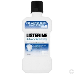 LISTERINE MOUTH WASH 500ML - Advanced White