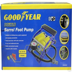 GOOD YEAR DOUBLE BARREL FOOT PUMP