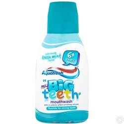 AQUAFRESH BIG TEETH MOUTHWASH 300ML