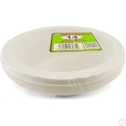 Plates Plastic Bowl White12oz 14pc