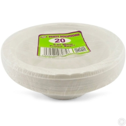 Plates Plastic Bowl White 5oz 20pc