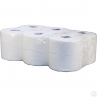 WHITE CENTRE FEED JUMBO ROLLS 6P