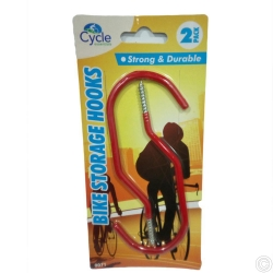 BIKE STORAGE HOOKS 2PC