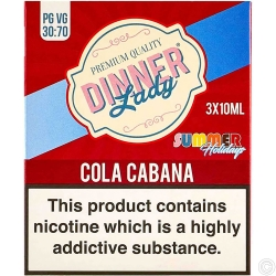 DINNER LADY E-LIQUID 3X10ML - COLA CABANA