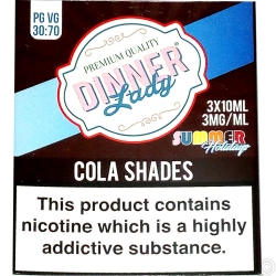 DINNER LADY E-LIQUID 3X10ML - COLA SHADES
