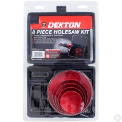 DEKTON 8 PIECE HOLESAW KIT