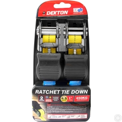 DEKTON 2PC 25MM X 4.5M RATCHET TIE