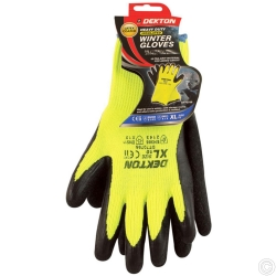 DEKTON INSULATED GLOVE BLACK/HI VIS GREEN SIZE 10
