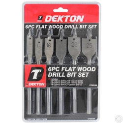 DEKTON 6PC FLAT WOOD DRILL SET