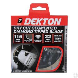 DEKTON DRY CUT SEGMENTED DIAMOND TIPPED BLADE