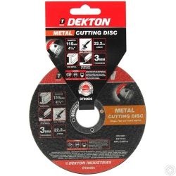 DEKTON 115MM CUTTING DISC METAL RAISED NORMAL
