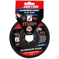 DEKTON 115MM ALUMINIUM OXIDE FLAP DISC 40 GRI
