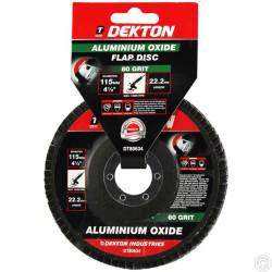 DEKTON 115MM ALUMINIUM OXIDE FLAP DISC 80 GRI