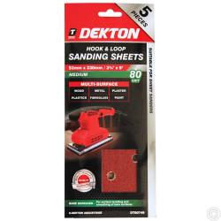 DEKTON 5PC HOOK AND LOOP SANDING PADS