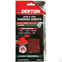 DEKTON 5PC HOOK AND LOOP SANDING PADS