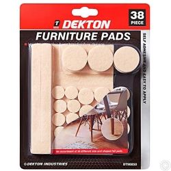 DEKTON 38 PIECE FURNITURE PADS