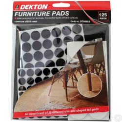 DEKTON 125 PIECE FURNITURE PADS