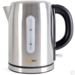 HotelPro 2.2Kw 1.0Ltr Cordless Kettle - Brushed Steel