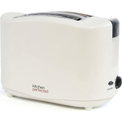 KitchenPerfected 2 Slice Toaster - Ivory White