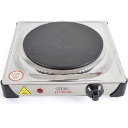 KitchenPerfected 1500W Single Hotplate - Stainless Steel
