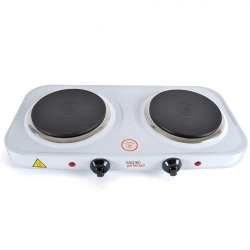 KitchenPerfected 2000W Double Hotplate - White