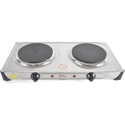 KitchenPerfected 2000W Double Hotplate - Stainless Steel