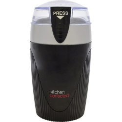 KitchenPerfected 120W 80g Spice/ Coffee Grinder - Black Silver