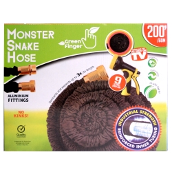 MONSTER SNAKEHOSE BLK 200' - NO RETURN