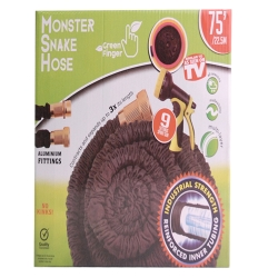 MONSTER SNAKEHOSE BLK 75' - NO RETURN