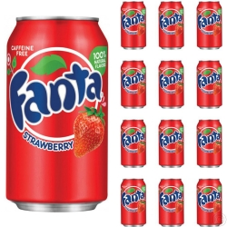 FANTA CAN 335MLX16 - STRAWBERRY