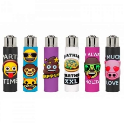 CLIPPER POP COVER LIGHTERS 24PK - EMOJI