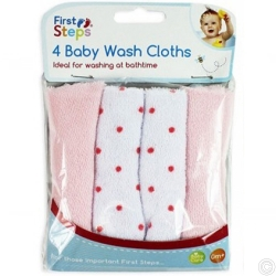 4 BABY WASH CLOTHS