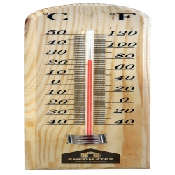 Traditional Wooden Thermometer