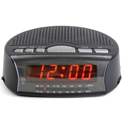 Daybreak' Alarm Clock Radio - Black