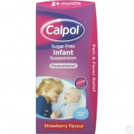 CALPOL SUGAR FREE 2+MONTH 100ML X 6