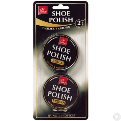 ASSORTED SHOE POLISH TIN 2pk