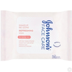 JOHNSON'S FACE CARE WIPES 25s - REFRESHING
