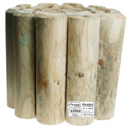 15cm (6in) Log Roll Garden Edging