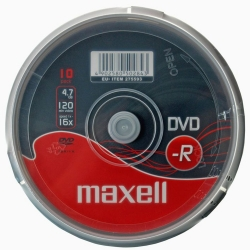 Maxell DVD-R CB10 Cake Box 10 Pack
