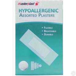 100 HYPOALLERGENIC PLASTERS X 6PACK