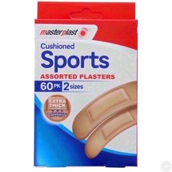 CUSHIONED SPORTS PLASTER 60PK x 12