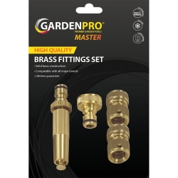 Garden Pro Master Brass Hose Fitting Set