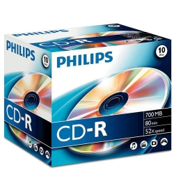 Philips CD-R 80Min 700MB 52x 10JC