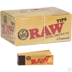 RAW ROLLING PAPER TIPS 50PK