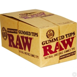RAW GUMMED TIPS PERFORATED 24's
