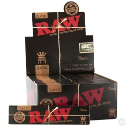 RAW BLACK K/S SLIM PAPERS X 50
